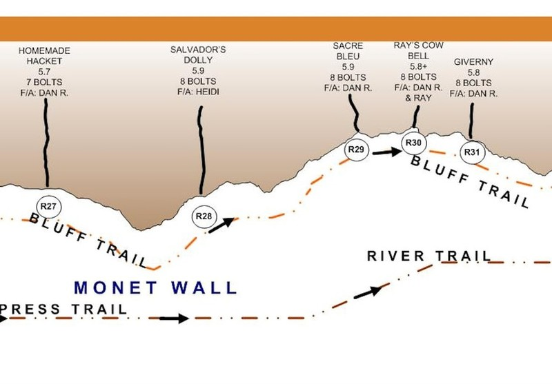 Route Map for Monet Wall
