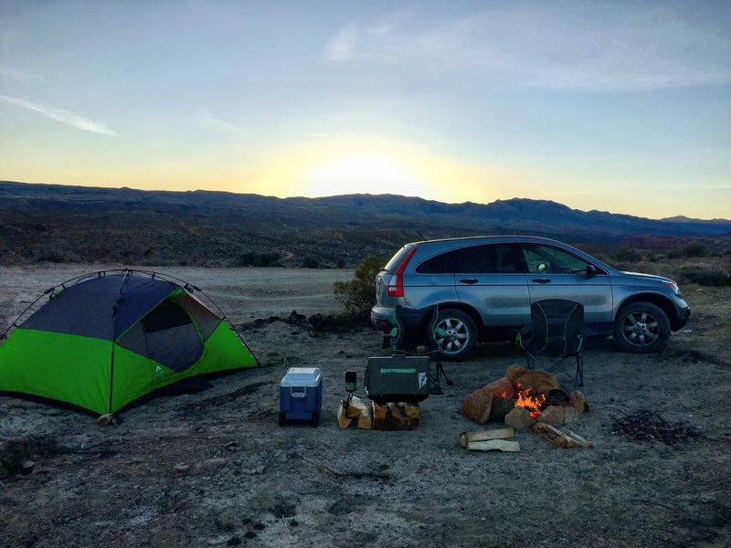 St. George BLM camping off the Bear Paw Poppy Trailhead.