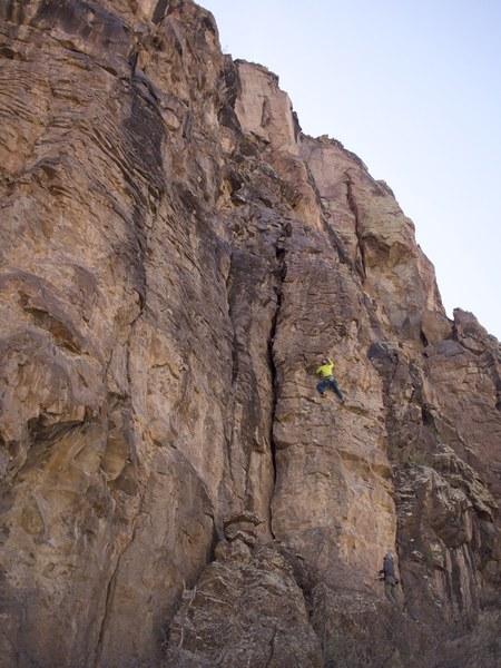 Michael works his way up this fun climb