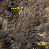 """Blow Up"" of climbers on Douvari Section"