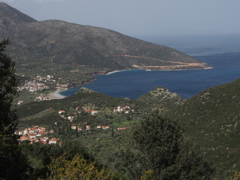 Town of Kyparassi from the approach trail to Playground