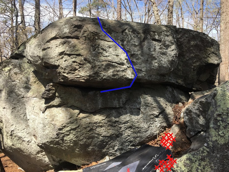 Helmet Head V2-3 (Blue). The sharp rock is also marked.