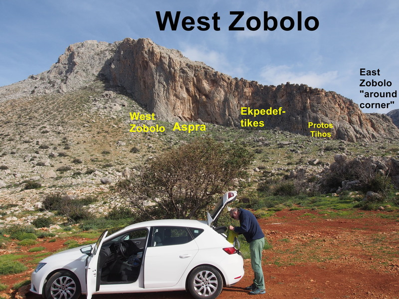 West Zobolo with the sub-areas of the Theodoropoulis guidebook indicated