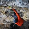 Entering the redpoint crux, clipping the next two bolts is pumpy as hell. Luke Ross photo
