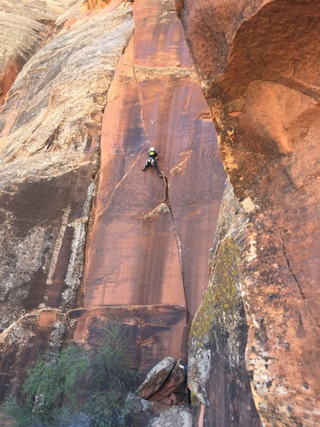 Todd Bol getting into the top crux