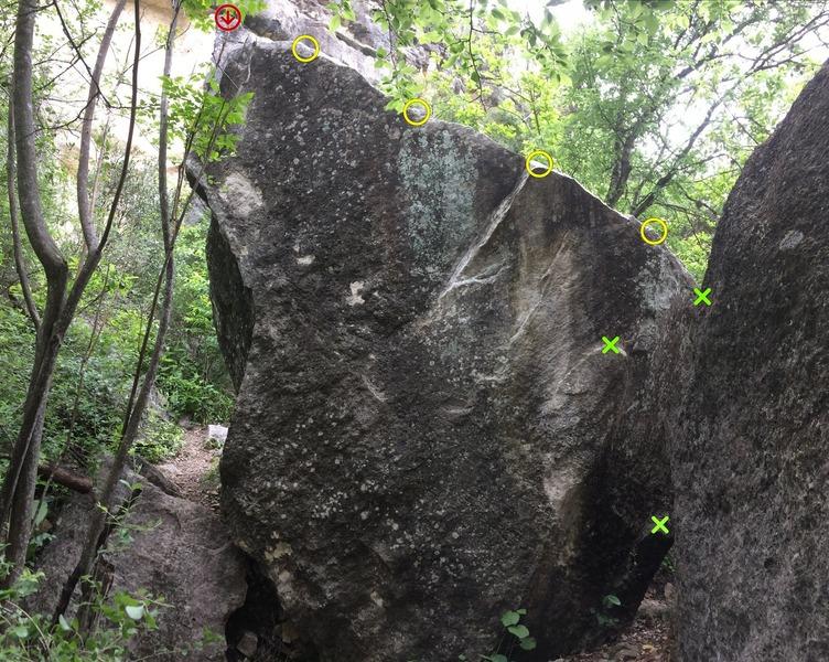 Middle boulder