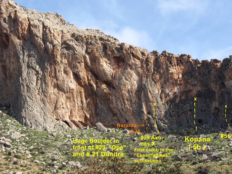 The left side of the cliff