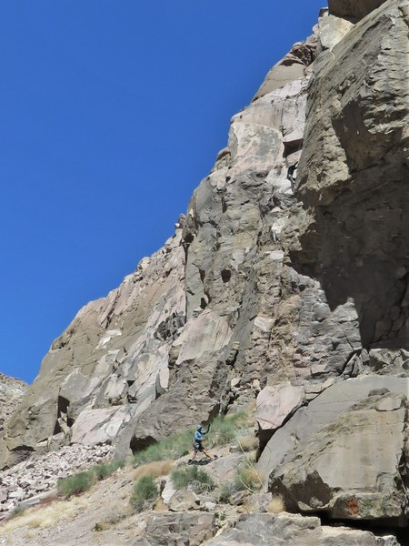 Fun climbing right on the arete!