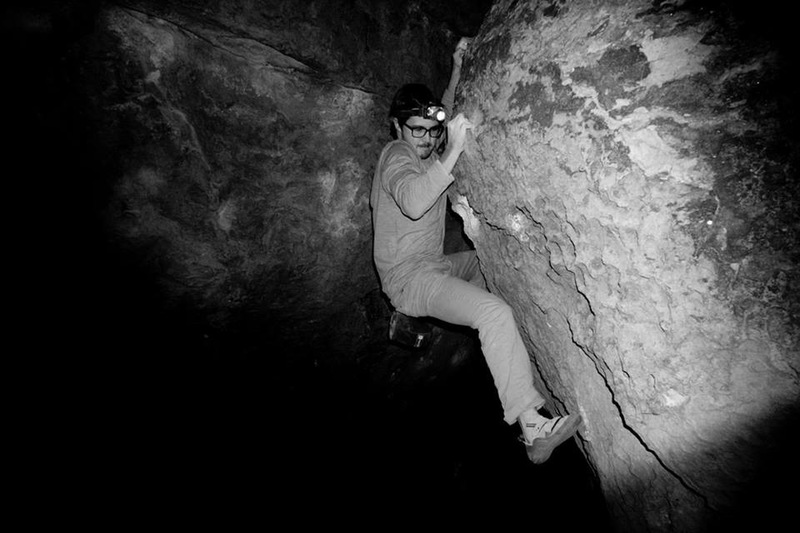 Night Climbing in the ice caves!