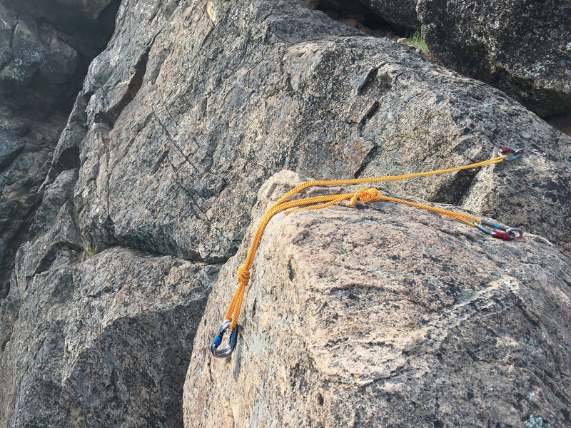 The bolts at the top can appear to be positioned awkwardly, and are not friendly to draws being used as an anchor. However, some biners and a length of cord easily fixes the problem