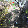 West face of Lower Tier, Boy Scout Rocks. 
