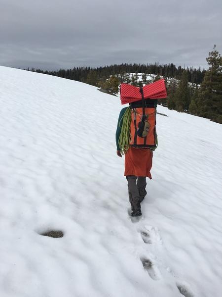 Snowy summit slog