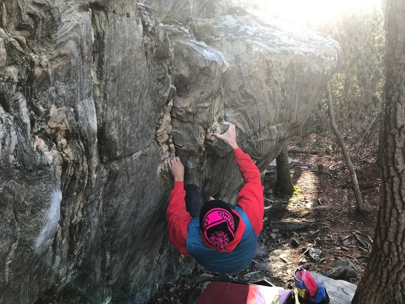 Fighting through the cryptic and tough crux