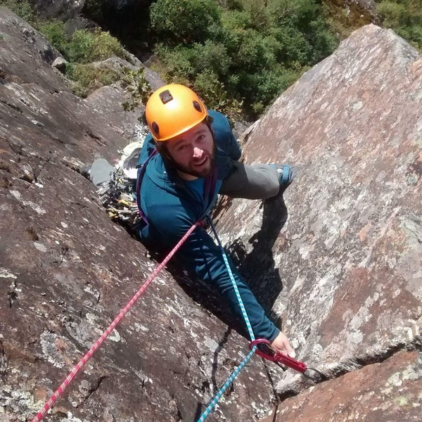 Charles on the second pitch of la farouche