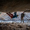 A little bouldering serves as a good warmup to the area. Photo by Michelle Christiance.