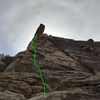 Looking at the route from ground belay