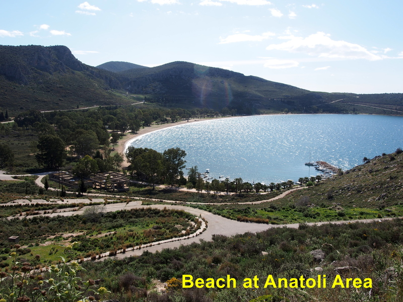 Beach just below the Anatoli cliff outside of Nafplio