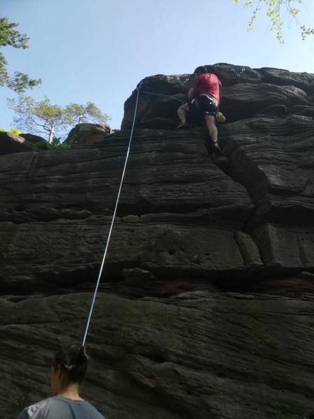 "Climbing ""Tout va bien"""