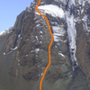 Alpine trad route to the summit