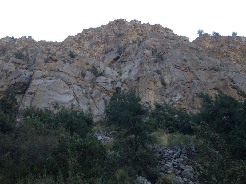 Trad climbing area
