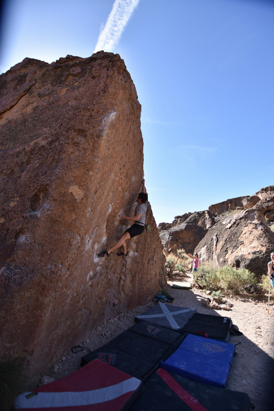 Ben Dulken staying tight at the crux