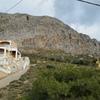 Gerakios sector, view from trailhead. 20 minute walk to the orange/grey wall