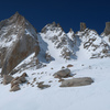 Feather Peak N Couloir in spring conditions