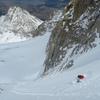 Skiing the N Couloir