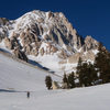 Approaching the NE Couloir of Mt. Langley
