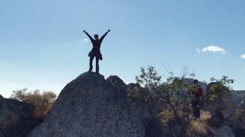 Barbara Luke at summit of Filo Noroccidental