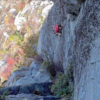 "Onsight free-soloing ""Julia (5.10b)"""