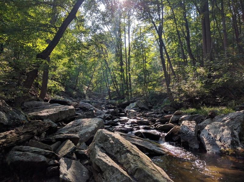 Big Hunting Creek - photo taken adjacent to the Gateway Trail.