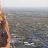 Aaron Climbing on Lefty Loosey on Greevers' Needle