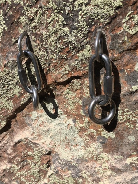 ASCA installed new rappel anchors at the top of Pitch one and pitch 2