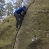 A bit of crack bouldering in Kjuge