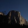 El Cap underneath a full moon