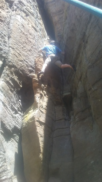 Rock Climbing In East Coast Crag Red River Gorge