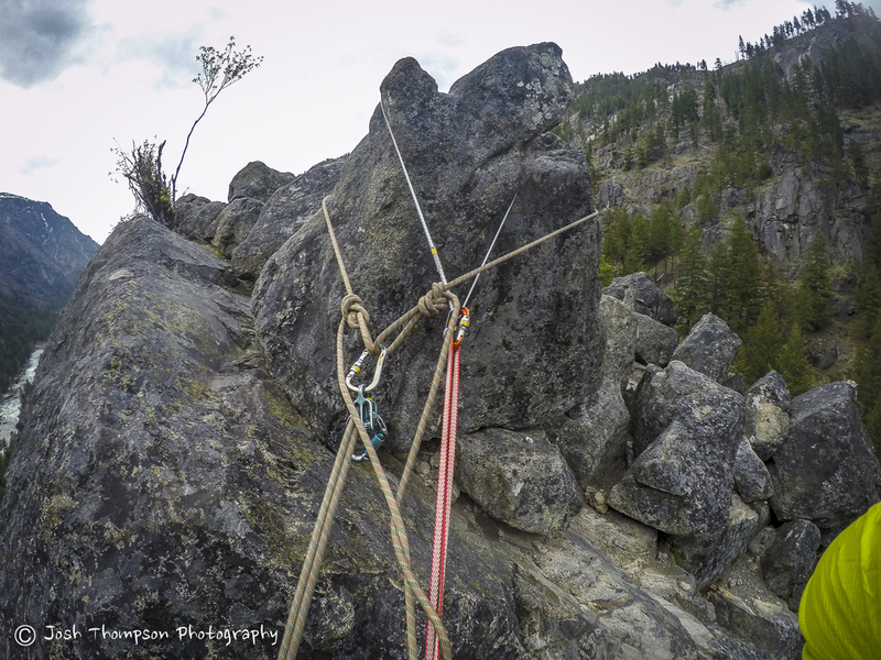 Top of pitch 3, bolder anchor