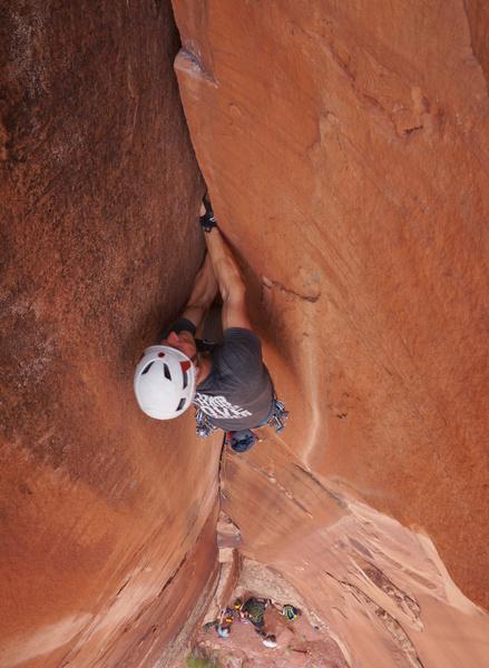 Doug on the steep #3s near the top.
