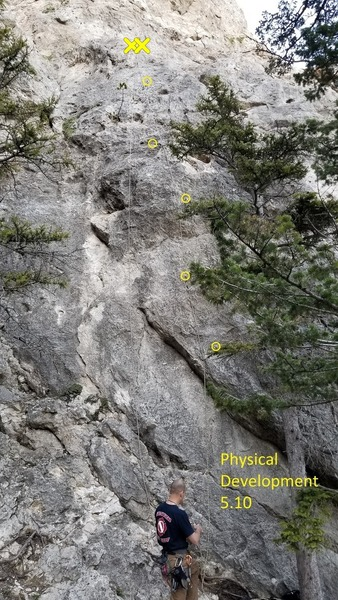 Recess Wall: Physical Development 5.10 (leftmost route)