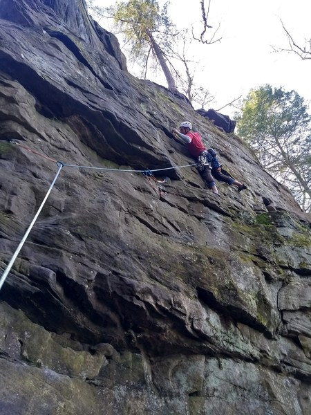 sinking tricam number six into the large horizontal mid route