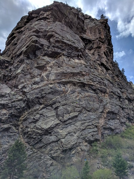 Two climbers on Wild Child, Mission Wall, 05/05/2018.