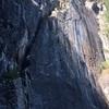 N.I.B dike on left. NA the amazing horizintal zebra streaks on right.