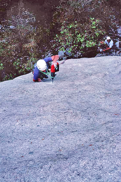 """Tony Calderone on the first ascent of """"Straight On For You"""", 1995"""