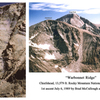 The Warbonnet Ridge on the SW face of Chiefshead.
