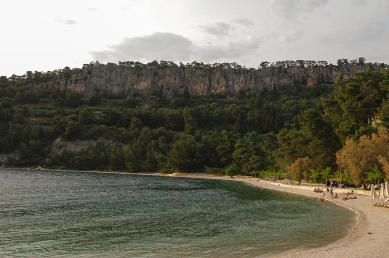 Marjan cliffs from Plaza Kašjuni