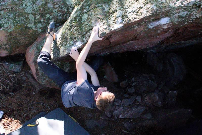 The day I broke the climb... =(<br> <br> Photo by Logan Melton.