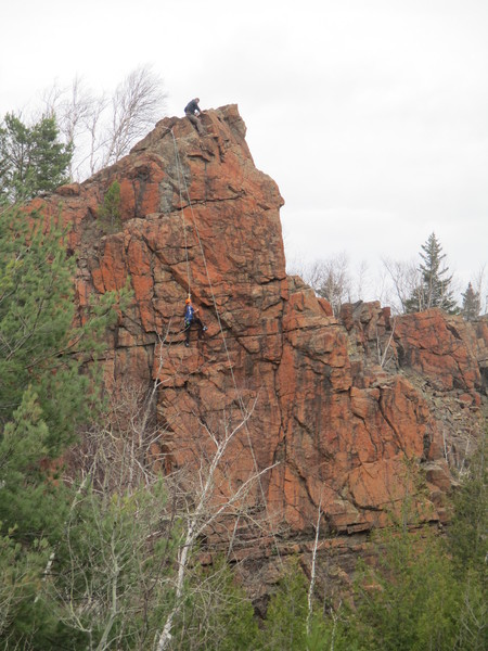 Climbing the Route first ascent