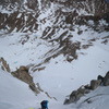 Skiing the N Face of Mt. Darwin
