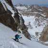 Skiing the N Couloir of Mt. Lamarck